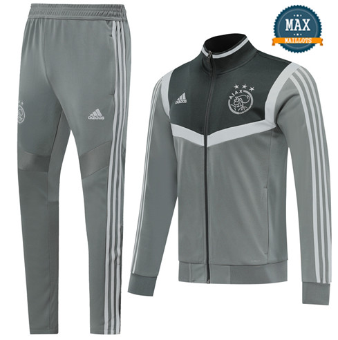 Veste Survetement AFC Ajax 2019/20 Gris