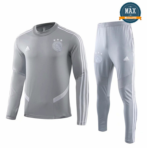 Survetement AFC Ajax 2019/20 Gris Col Rond