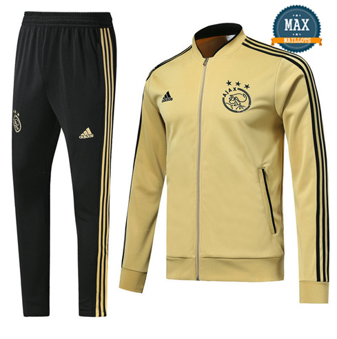 Veste Survetement Ajax Amsterdam 2019/20 Jaune