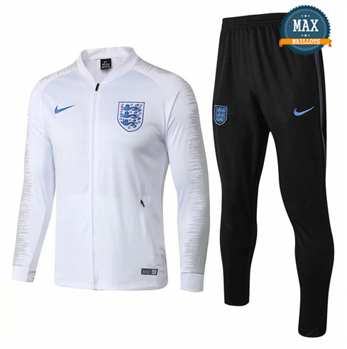 Veste Survetement Angleterre 2019/20 Blanc Strike Drill