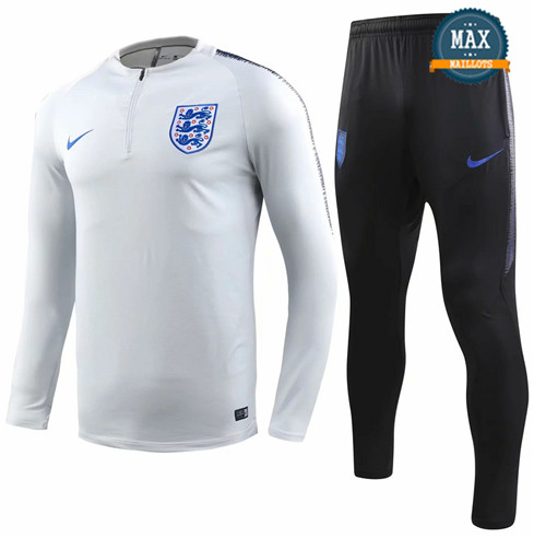 Survetement Angleterre 2019/20 Gris Blanc