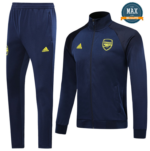 Veste Survetement Arsenal 2019/20 Bleu Marine Col Haut