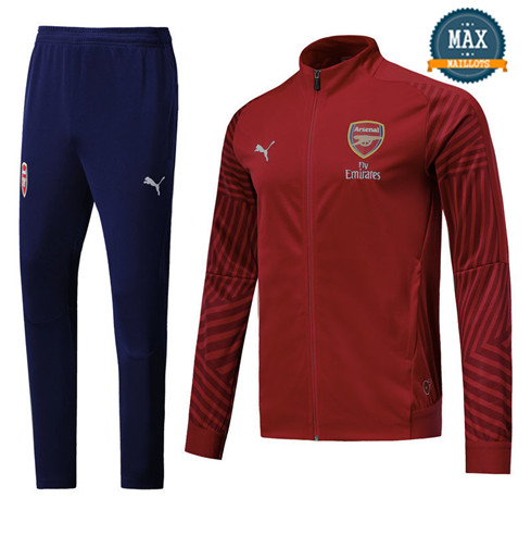 Veste Survetement Arsenal 2019/20 Rouge Strike Drill
