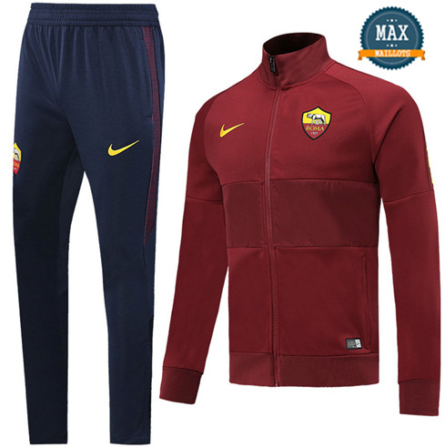 Veste Survetement AS Roma 2019/20 Jujube Rouge