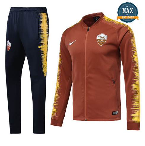 Veste Survetement AS Roma 2019/20 Orange Strike Drill
