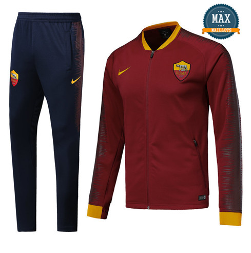 Veste Survetement AS Roma 2019/20 Rouge Strike Drill