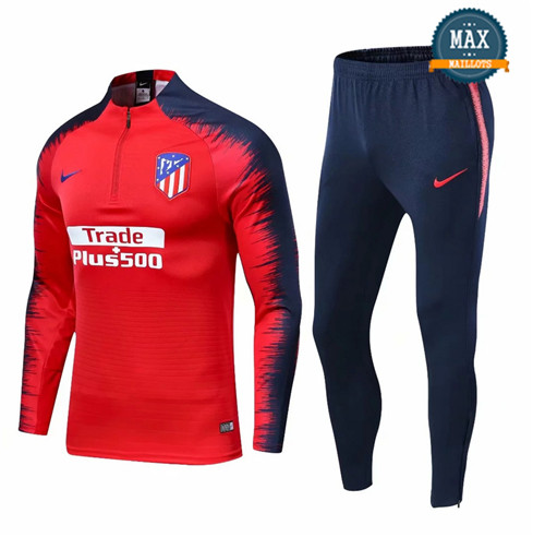 Survetement Atletico Madrid 2019/20 Rouge + Short Bleu Strike Drill