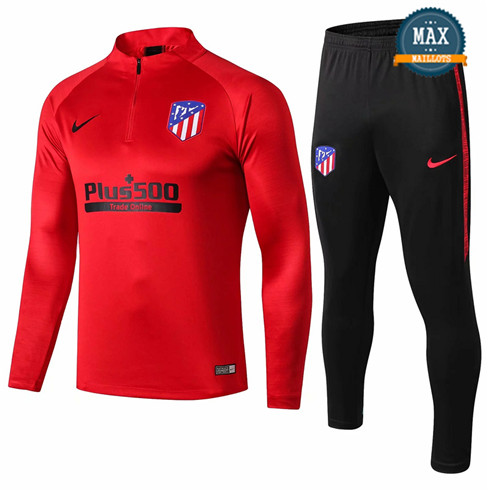 Survetement Atletico Madrid 2019/20 Rouge + Short Noir