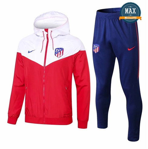 Coupe vent à Capuche Atletico Madrid 2019/20 Rouge/Blanc + Short Bleu