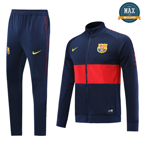 Veste Survetement Barcelone 2019/20 Rouge/Bleu Marine