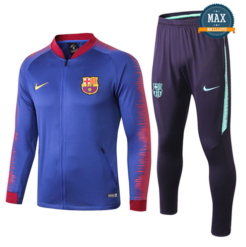 Veste Survetement Barcelone 2019/20 Bleu