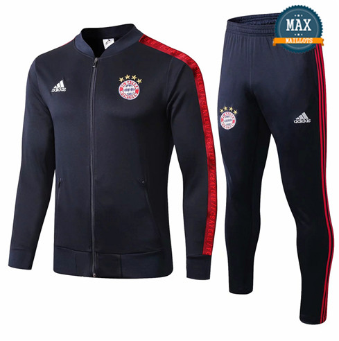 Veste Survetement Bayern Munich 2019/20 Bleu Marine col bas