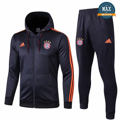 Veste Survetement à Capuche Bayern Munich 2019/20 Bleu Marine