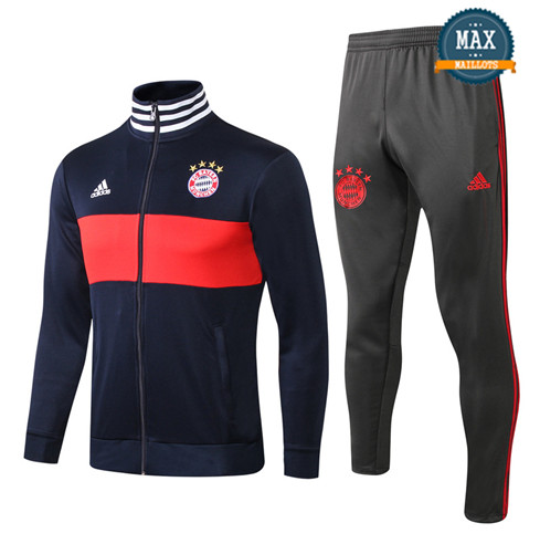 Veste Survetement Bayern Munich 2019/20 Bleu Marine/Rouge