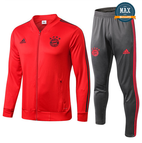 Veste Survetement Bayern Munich 2019/20 Rouge
