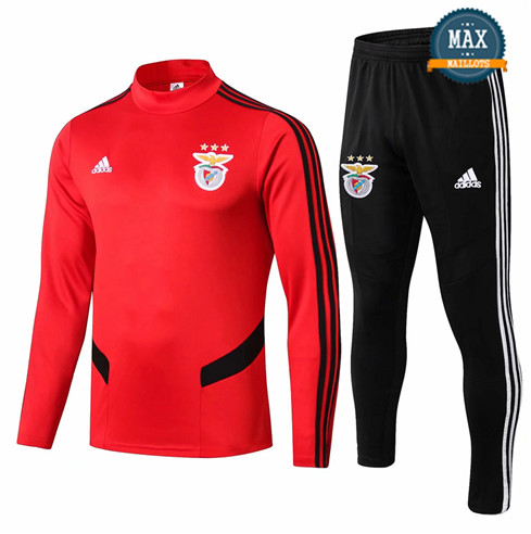 Survetement Benfica 2019/20 Rouge + Short Noir