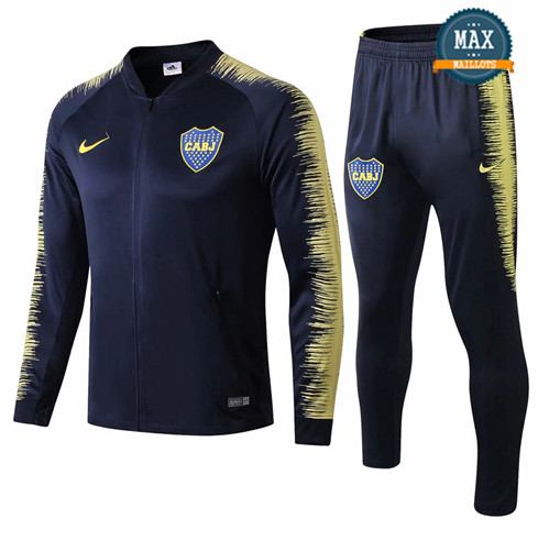 Veste Survetement Boca Juniors 2019/20 Bleu Marine Strike Drill