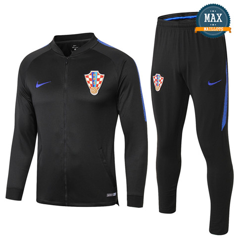 Veste Survetement Croatie 2019/20 Noir