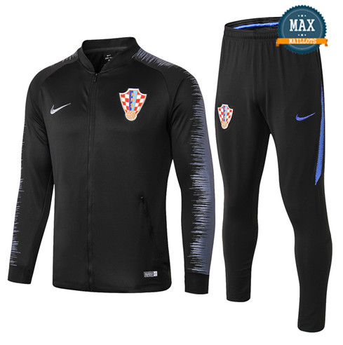 Veste Survetement Croatie 2019/20 Noir Strike Drill