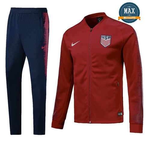 Veste Survetement Etats-Unis 2019/20 Rouge