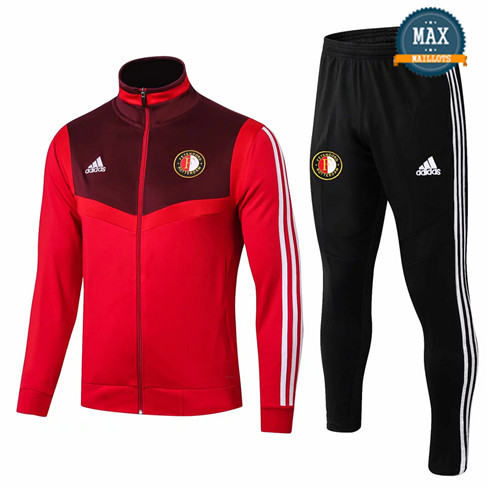 Veste Survetement Feyenoord 2019/20 Rouge + Short Noir