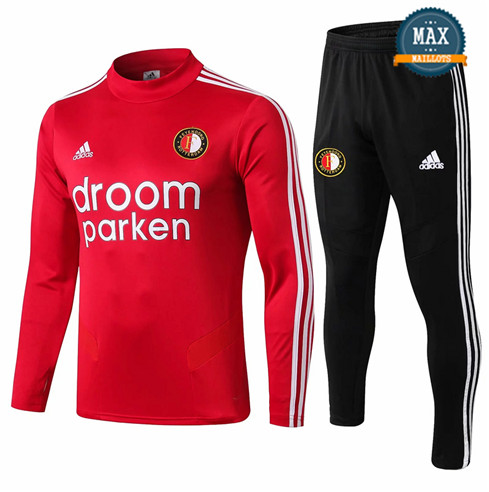 Survetement Feyenoord 2019/20 Rouge + Short Noir