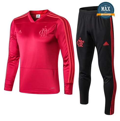Survetement Flamenco 2019/20 Rose Col V