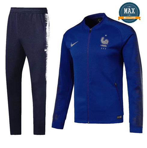Veste Survetement France 2019/20 Bleu