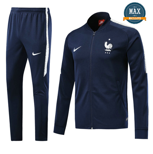 Veste Survetement France 2019/20 Bleu Marine