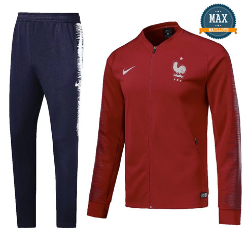 Veste Survetement France 2019/20 Rouge