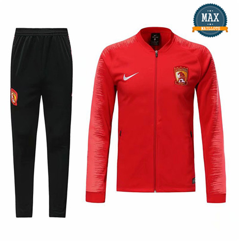 Veste Survetement Guangzhou Evergrande 2019/20 Rouge