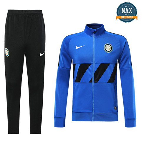 Veste Survetement Inter Milan 2019/20 Bleu + Short Noir