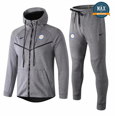 Veste Survetement à Capuche Inter Milan 2019/20 Gris fonce