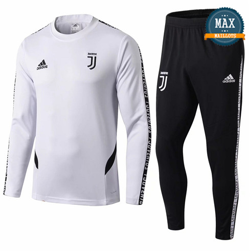 Survetement Juventus 2019/20 Blanc + Short Noir