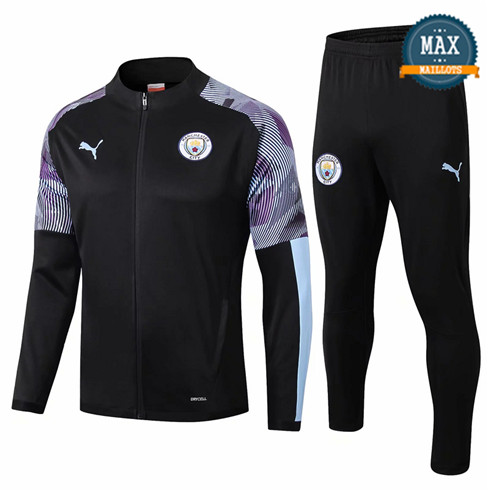 Veste Survetement Manchester City 2019/20 Noir/Violet