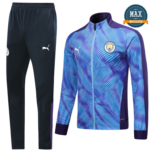 Veste Survetement Manchester City 2019/20 Violet/Bleu