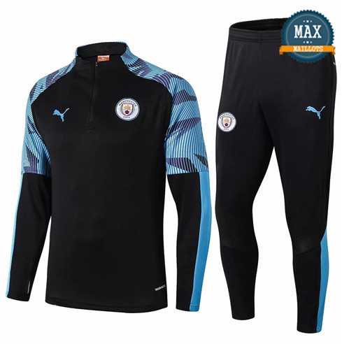 Survetement Manchester City 2019/20 Noir/Bleu