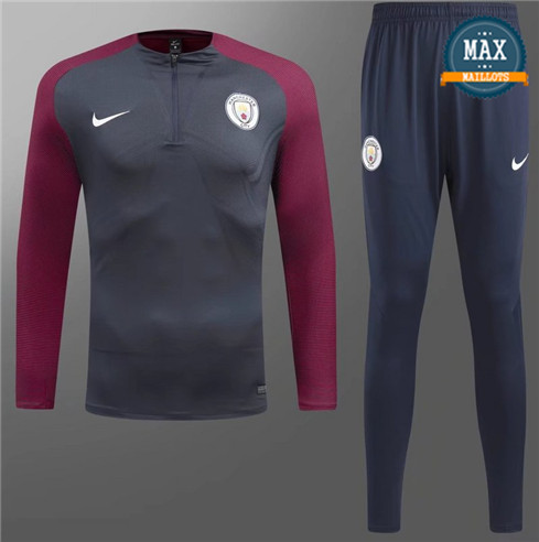 Survetement Manchester City 2019/20 Gris Fonce/Violet