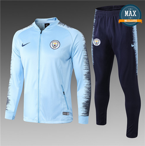 Veste Survetement Manchester City 2019/20 Light Blue