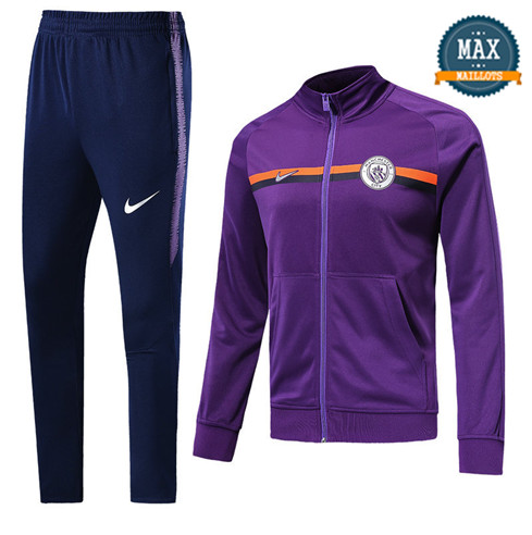 Veste Survetement Manchester City 2019/20 Violet
