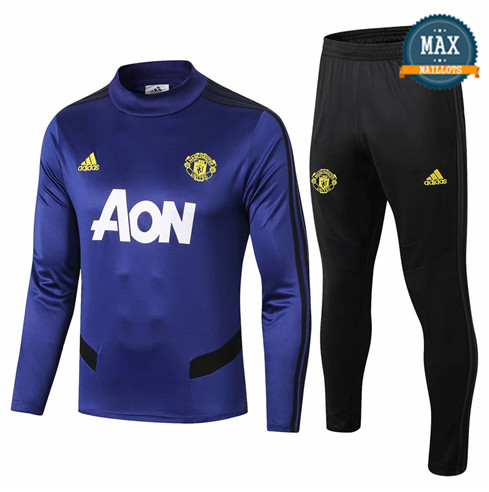 Survetement Manchester United 2019/20 Bleu Marine Col Rond