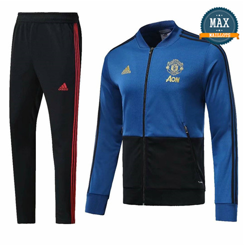 Veste Survetement Manchester United 2019/20 Bleu/Noir
