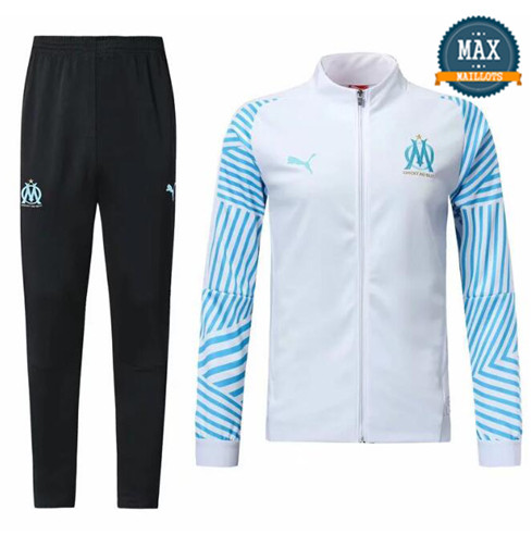 Veste Survetement Marseille 2019/20 Blanc
