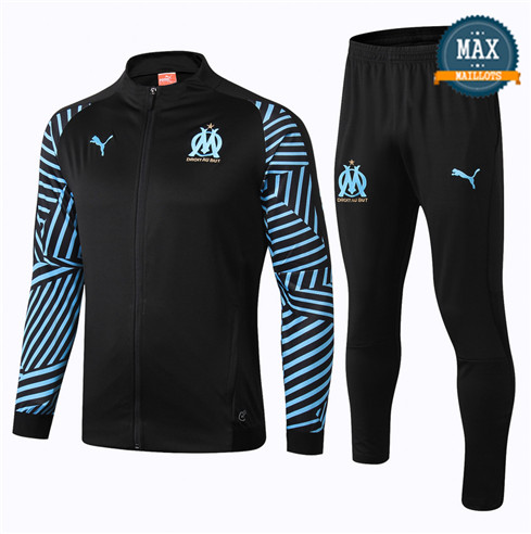 Veste Survetement Marseille 2019/20 Noir