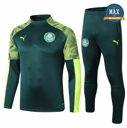 Survetement Palmeiras 2019/20 Vert sweat zippé