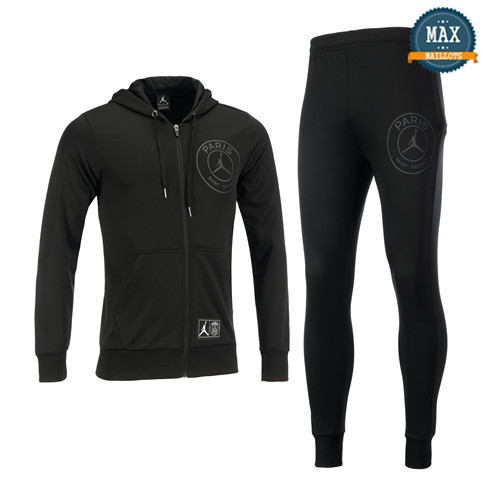 Veste Survetement à Capuche PSG Jordan 2019/20 Gris