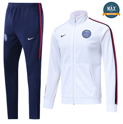 Veste Survetement PSG 2019/20 Blanc