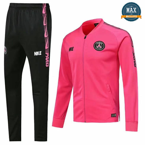 Veste Survetement PSG 2019/20 Rose col bas