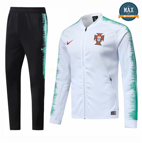 Veste Survetement Portugal 2019/20 Blanc