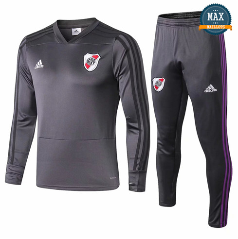 Survetement River Plate 2019/20 Gris fonce Col V